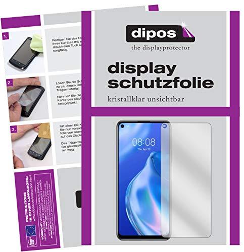 dipos I 2X Schutzfolie klar kompatibel mit Huawei P40 lite 5G Folie Bildschirmschutzfolie (bewusst Kleiner als das Glas, da Dieses gewölbt ist)