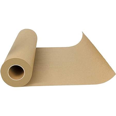 Nrpfell Butcher Papier d'emballage De Papier Kraft De Qualité Alimentaire Tout Approuvé par La FDA pour Le Papier De Cuisson De Viandes De Barbecue dans Le Tube De Transport Durable 1pcs