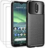 ivoler Case for Nokia 2.3 + 3 Pack Tempered Glass Screen