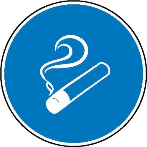 Betriebsausstattung24® Rauchen gestattet Gebotsschild, selbstkl. Folie, Gröߟe 20cm