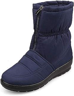 labato Women's Waterproof Winter Snow Boot Wide Calf Cold Weather Boots