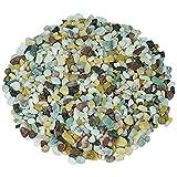Hencik Piedras naturales multicolor decorativas de río, guijarros de jardín, grava al aire libre, jarro de peces, plantas en macetas para decorar regalo (color: 100 g, tamaño: 5 8 mm) minerales