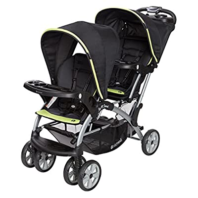Baby Trend Sit n Stand Double Stroller, Optic Green