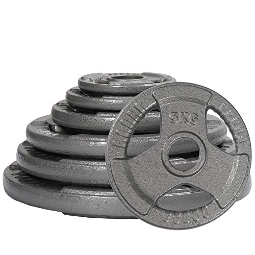 RIP X Pair of Tri Grip 2' Olympic Cast Iron Weight Plates - 5kg