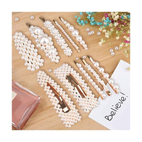 Beauty Shopping Allucho 22 Pack Pearl Hair Clips Fashion Hair Barrettes Sweet Artificial Macaron