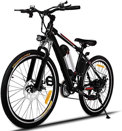 Oppikle Faltbares E-Bike,36V 250W Elektrofahrräder, 8A Lithium Batterie Mountainbike,26 Zoll Große Kapazität Pedelec mit Lithium-Akku und Ladegerät (Nicht faltbar-Schwarz)