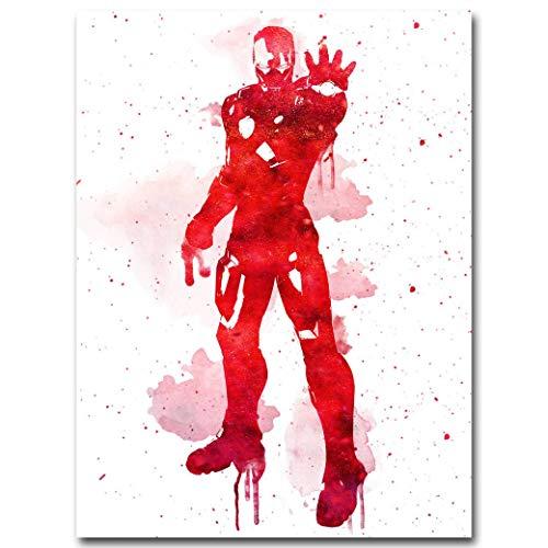 AGjDF Héroe Mujer murciélago Gigante cómic_5D DIY Pintar por Numeros-Lienzo preimpreso-óleo Regalo para Adultos Niños Pintura por Numero Kits Decoración del Hogar_ 40x50cm