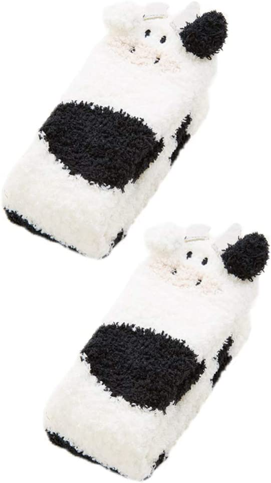 Louisville-Jefferson County Mall Holibanna Cow Socks Indoor Floor Animal Fuzzy Sleeping Win Import