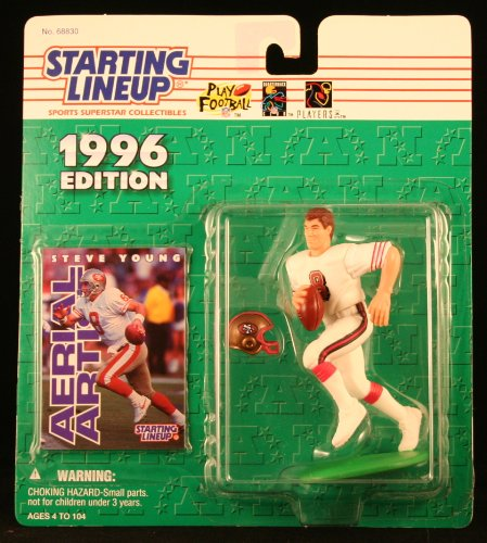 Starting Lineup Steve Young / SAN Francisco 49ERS 1996 NFL Action Figure & Exclusive NFL Collector Trading Card