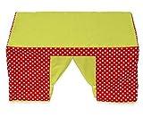 Betzold 58813 - Kinder-Spielzelt Tischzelt rot grün Fenster - Kinderzelt Spielhaus Zimmerzelt...