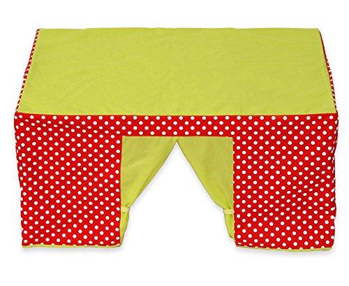 Betzold 58813 - Kinder-Spielzelt Tischzelt rot grün Fenster - Kinderzelt Spielhaus Zimmerzelt Kinderzimmer Mädchen Junge
