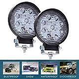 CICMOD 2 Pzs Faro LED Trabajo, 9-30V 90W 9000lm Focos LED Tractor IP67 Impermeable per Off-Road SUV UTV ATV Redondo