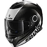 Shark Spartan Carbon Skin DWS Motorrad-Helm, Schwarz/Weiß, Größe L