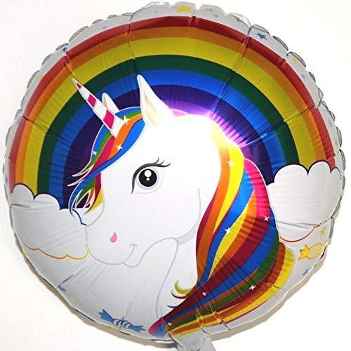 SauParty Niños Fiesta Regalo Helio Globo de Plástico Unicornio Blanco Cumpleaños Decoración
