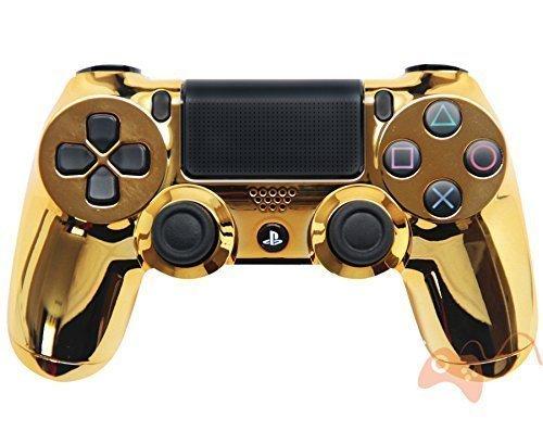 "Chrome Gold"" PS4 Rapid Fire Modded Controller 35 mods COD BO3, Advanced Warfare, Destiny, Ghosts Rapid Fire QUICKSCOPE, JITTER, DROP SHOT, AUTO AIM ZOMBIE"