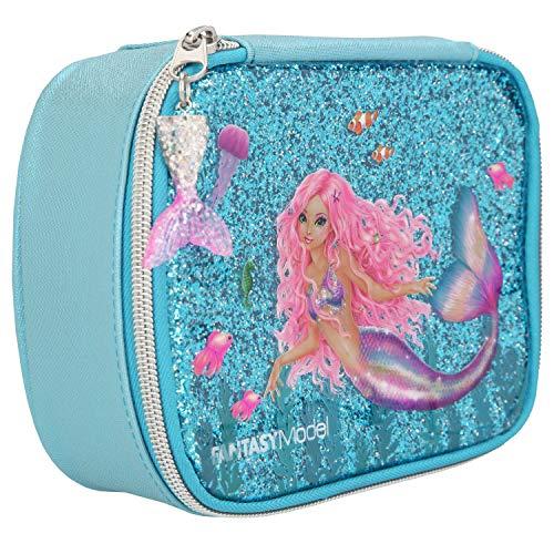 Depesche 10941 Kosmetiktasche, Fantasy Model Mermaid, blau, ca. 7 x 15 x 19 cm
