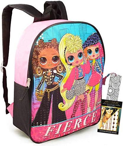 LOL Dolls Backpack Travel Bag for Teens Girls Kids Bundle Premium 15 LOL School Bag Travel Set product image
