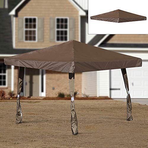 Coldshine 3x3m Garden Gazebo Waterproof Top Cover Roof Replacement Tent Canopy Fabric (Coffee)