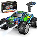 Ford Raptor F150 Remote Control Car 20km/h 4WD RC Car with 1200mAh Battery Headlights High Speed Off Road Monster Trucks for Boys Girls Kids, Green