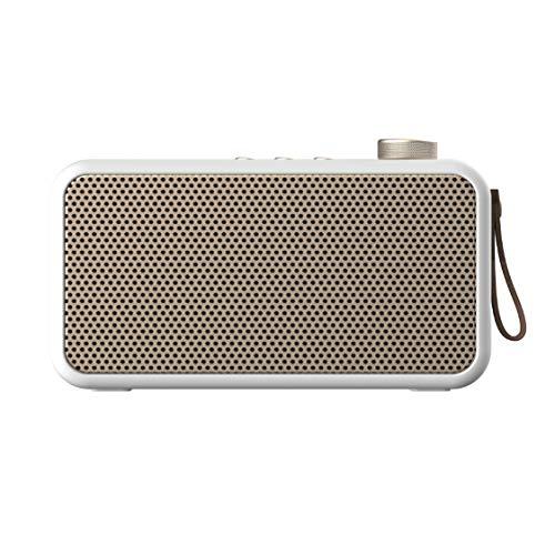 KREAFUNK aTUNE Radio Bluetooth Lautsprecher, DAB+, FM, AUX Radio, weiß/Gold