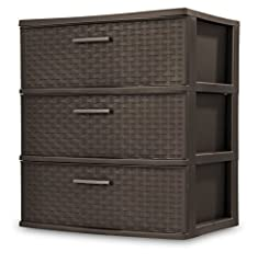 """Dimensions: 15 7/8"""" D x 21 7/8"""" x 24"""" H Includes 1 Tower Made in the USA Ideal for use throughout the home, adding a décor look to visible storage areas Espresso frame & drawers w/Driftwood handles"""