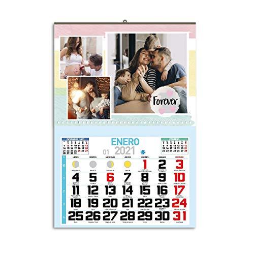 One Personal - Calendario Personalizado de Pared 2021 |...