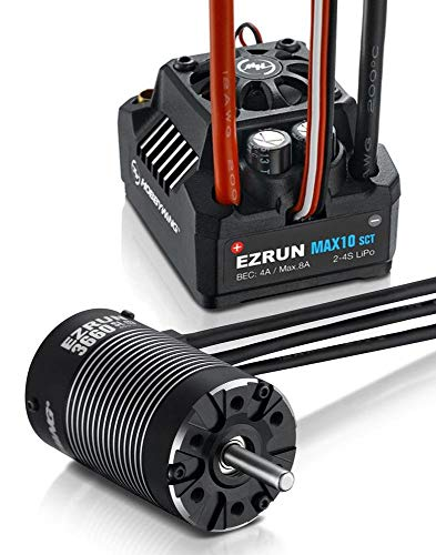 Xiangtat HOBBYWING EZRUN Max10 SCT 120A ESC Combo with Ezrun G2 3660SL 4000KV Brushless Motor