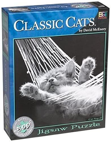 David McEnery Classic Cats 500-piece Jigsaw Puzzle  Cat Nap II by Toys