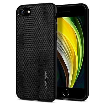 Spigen Liquid Air Armor Designed for Apple iPhone SE 2020 Case/Designed for iPhone 8 Case (2017) / Designed for iPhone 7 Case (2016) - Black