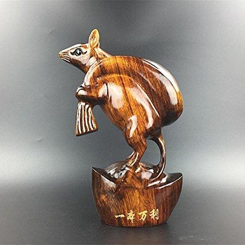 Powzz ornament Dongyang Holzschnitzerei, Tiger, Massivholz, Eisen, Birne, Holz, Geomantie, Fengshui, zwölf chinesische Sternzeichen, DREI Mahagoni Handarbeiten, etc, Zodiac