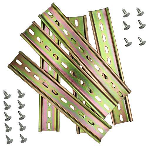 WJMY Hutschiene Schiene DIN Wandschiene Montageschiene für Bauanschlusskasten Hängeschrank Verteilerschrank Schaltschrank einbau 35mm breit,lang 200mm/7.9in, 7,5mm hoch