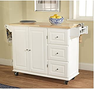 Simple Living Aspen 3-drawer Spice Rack Drop Leaf Kitchen Cart by Simple Living