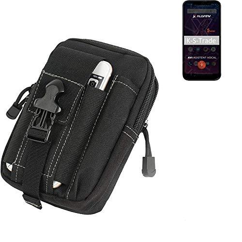 K-S-Trade Gürtel Tasche Für Allview Soul X5 Mini Gürteltasche Holster Schutzhülle Handy Hülle Smartphone Outdoor Handyhülle Schwarz Zusatzfächer