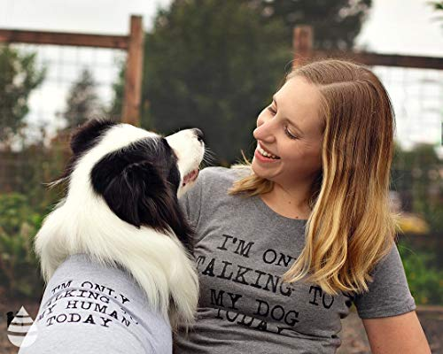 Crazy Dog T-Shirts Womens Only Talking To My Dog Today Funny Shirts Dog Lovers Novelty Cool T Shirt (Dark Grey) -XL