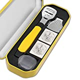 YAOJING Feet Shaver Set, Portable Foot Shaving Tools with Portable Case, Foot Shaver Callus Remover Hard Dry Skin Remover, for Removing Hard, Cracked, Dead Skin Cells