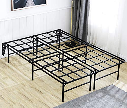3000lbs Max Weight Capacity TATAGO 16 Inch Tall King Heavy Duty Platform Bed Frame & 2 Set Headboard Bracket, Mattress Foundation, Non-Slip, No Noise & No Box Spring Needed