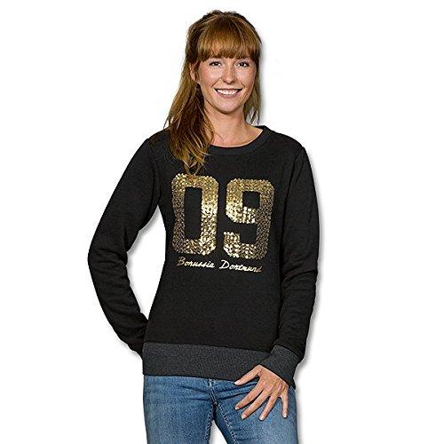 Borussia Dortmund BVB 09 Sweatshirt mit Pailletten für Frauen Größe M