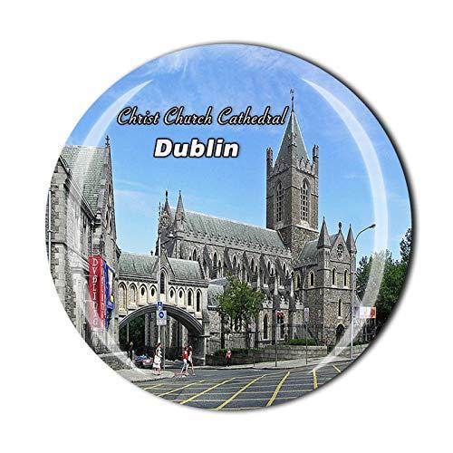 Imán de cristal para nevera de la iglesia de Cristo en 3D de Dublín Irlanda de la iglesia de Cristo de la catedral de la nevera Imán de cristal de vidrio turístico