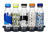 Reduce WaterWeek Reusable Water Bottles Set, 20oz – 5 Plastic Refillable Water Bottles Plus Fridge Tray For Your Reusable Water Bottle Set – BPA-Free, Leak Proof Twist Off Cap – Trek