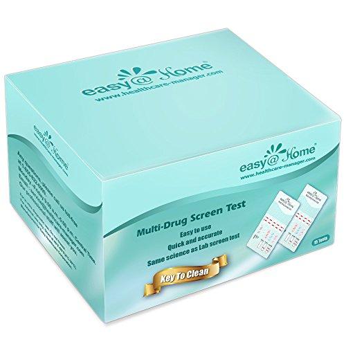 15 Pack Easy@Home 5 Panel Instant Drug Test Kits - Testing Marijuana (THC), COC, OPI 2000, AMP, MET/mAMP- Urine Dip Drug Testing -#EDOAP-254