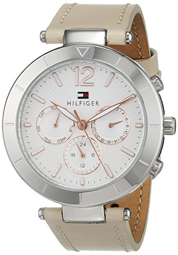 Tommy Hilfiger 1781880 Multi-wijzerplaat, quartz horloge met lederen armband