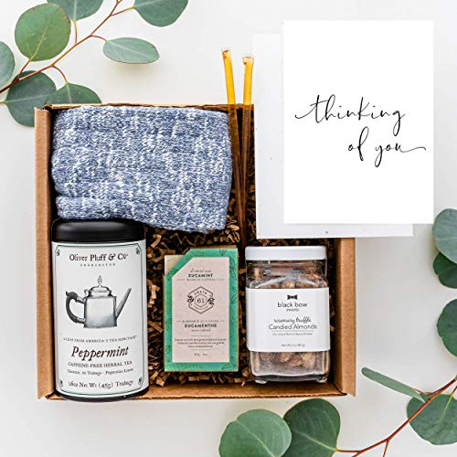 UnBoxMe Thinking Of You Care Package For Men | Gift Box For Dad, Boyfriend, Employee, Boss, Co-worker | Cancer Gift, Condolence Gift, Sympathy Gift (Thinking Of You Card)