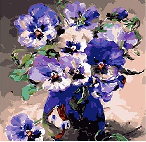 Bloemenpatroon in een fles met olieverfschilderij – 1000 delen houten puzzel, hoge kwaliteit en grote afmetingen, een goed cadeau voor vrienden.