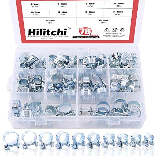 Hilitchi 78-pcs mini iniezione carburante linea Style fascette assortimento kit–10tipi di dimensioni