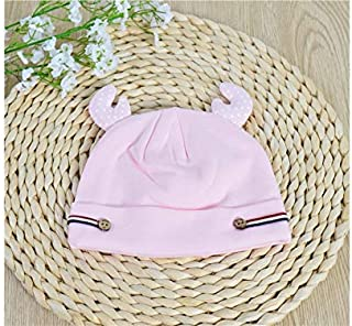 Baby Decoration Hat Cute Baby Antlers Warm Sleep Cap Newborn Hat Infant Hedging Cap for 0-6 Months(Blue) Cute Cap (Color : Pink, Size : Head Circumference)