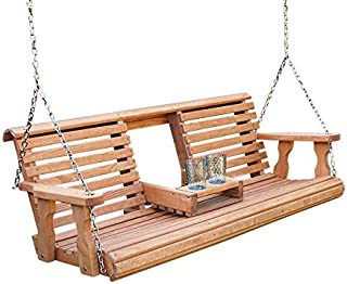 cedar bench swing