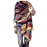 Women's Boho Bohemian Soft Blanket Oversized Fringed Scarf Wraps Shawl Sheer Gift (01)