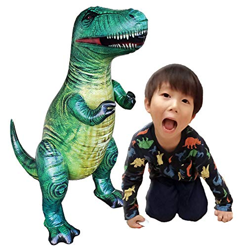 Jet Creations 37' T-rex Tyrannosaurus Inflatable Air Stuffed Plush Toy, Durable Self Standing, one of the best Dinosaur Toys, Party Favors for kids, Pool Toys, DI-TYR3,Multicolor
