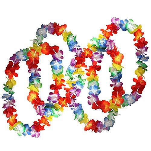 Flor Artificial, Grandes lotes de Traje collares Hawai floral Perfect sus accesorios venta caliente 50 X hawaiano tropical Flor Collares Por Planta Artificial
