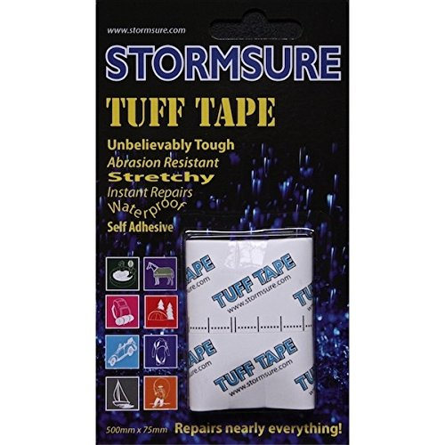 Storm Sure Tuff Tape–Transparent Self Adhesive for use on many materials Repair